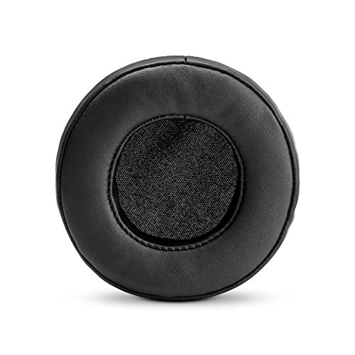 (BRAINWAVZ Round Replacement Memory Foam Earpads - Suitable for Many Other Large Over The Ear Headphones - Sennheiser, AKG, HifiMan, ATH, Philips, Fostex, Sony (Black))