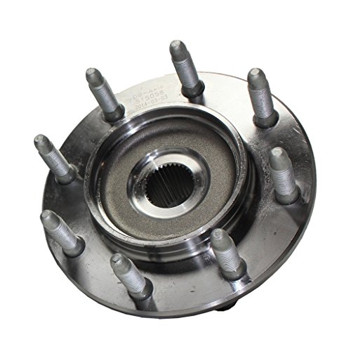 (Detroit Axle - Front Wheel Hub and Bearing Assembly Driver or Passenger Side fits 4×4 4WD Only for 1999-2007 Chevy Silverado Avalanche Suburban GMC Sierra Yukon Hummer H2 1500HD 2500 2500HD - 8 Lug)