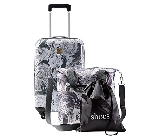 Travel Quarters Marble 3-pc. Hardside Spinner Luggage Set by Travel Quarters
