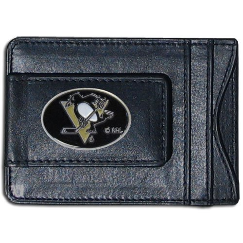 NHL Pittsburgh Penguins Genuine Leather Cash and Cardholder ()