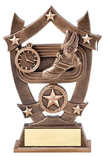 - Express Medals 6.25 Inch Sport Star Track Trophy Award with Engraved Personalized Plate 1-Pack