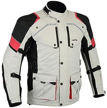 LOVO Chaqueta 3 4 para moto (Hombre) (10XL)  Amazon.es  Coche y moto 60bd3cb6a475f