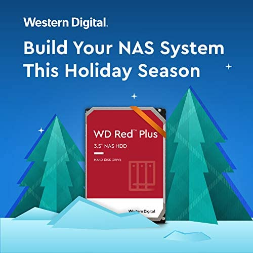 """Western Digital 10TB WD Red Plus NAS Internal Hard Drive - 5400 RPM Class, SATA 6 Gb/s, CMR, 256 MB Cache, 3.5"""" - WD101EFAX"""