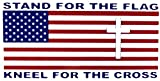 Wholesale Lot of 6 Stand For The Flag Kneel For The Cross Decal Bumper Sticker