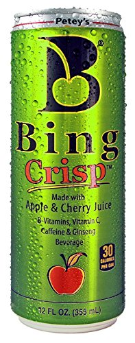12 Pack - Petey's Bing Crisp - Apple & Cherry - 12oz.+ Energy Drink Outlet Sticker