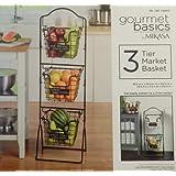 Gourmet Basics by Mikasa 3 Tier Market Basket (Model 5184004)