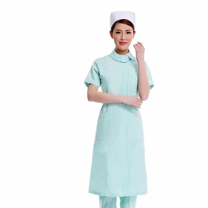 Xuanku Desgaste De Las Enfermeras Farmacias De Manga Corta, Belleza Trajes, Batas Blancas Y Overoles Blancos, XXL, Verde: Amazon.es: Ropa y accesorios