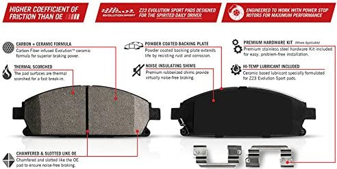 Front Power Stop Z23-1298 Z23 Evolution Sport Brake Pads