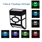 Solar Lights,Waterproof 7-Color Changing Solar Powered LED Wall Light for Outdoor Landscape Garden Yard Lawn Fence Deck Roof Lighting Decoration (4PACK)