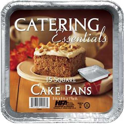 Handi Foil Square Cake Pan, 15 inch -- 12 per case.