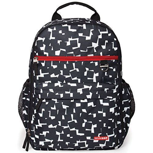 Hop Duo Skip Amazon - Skip Hop Duo Signature Carry All Travel Diaper Bag Backpack with Multipockets, One Size, Black White Cubes