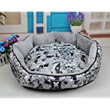 NEO Home Oxford Favorite Circular Soft Warm Indoor Puppy Dog Cat Sleeping Pad Bed Cushion with Removable Mat.