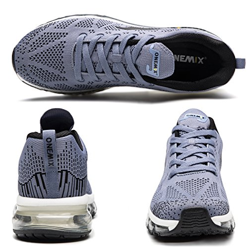 3d Max Running Air Onemix Gris Sneaker Hommes Trainer Course Knit De Flyknit Athletic Chaussures Pour Sports PnXw80Sxq