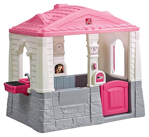Step2 Happy Home Cottage & Grill Kids Playhouse, Pink (Playhouse Designs Kids)