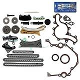 "NEW TK4090SKSI Timing Chain Kit, Cover Gasket Set, Front Oil Seal, & RTV Gasket Maker for Ford / Mazda / Mercury 4.0L (4015cc) 245cid SOHC V6 (12-Valve) Engine, Vin Code ""E"" ""K"" ""N"" 1997-11"