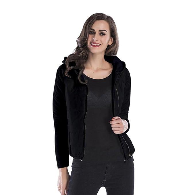 Internert Abrigo con capucha de algodón otoño invierno mujer Abrigo de algodón color sólido Chaqueta Thick Warm Outwear Clothes: Amazon.es: Ropa y ...