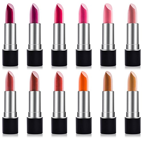 SHANY Slick & Shine Lipstick Set - Set of 12 Famous Colors
