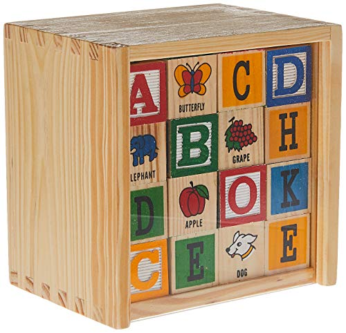 Schylling ABC Wooden Alphabet Blocks Toy
