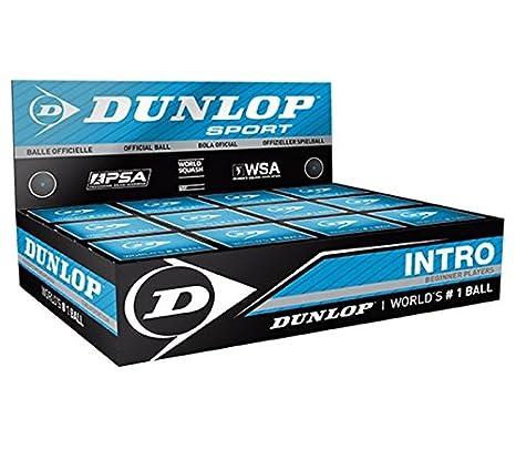 Pelota de squash Dunlop Intro azul bola para principiantes. (12 ...