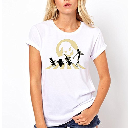 Halloween Road for Women T Shirt (2X-Large, White)]()