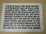 A Book of Rules, Arne Lewis, 0912810416