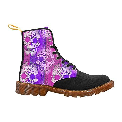 Women Boots skull color LEINTEREST mix Shoes Fashion For Martin xZvn8qP