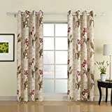 IYUEGO Flower Letter Print Grommet Top Lining Blackout Curtains Draperies With Multi Size Custom 100″ W x 84″ L (One Panel) For Sale