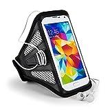 "For Sony Xperia (XZ, E5, XA) / Motorola (E3, G4 Play) / HTC One (S9, 10) / ZTE Blade (V7, Avid Plus, Pouch Sports Armband [GYM Bike Jogging Running Walking Hiking] Gray Armband (12""-19"" Strap)"
