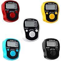 CG Tally Finger Counters, 5 digitale led-vingerclickers met digitale elektronische vingerteller, handtally mini…