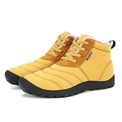 Invernali Fexkean Stivaletti Piatto Sportive Stivali DF Impermeabile Uomo Boots Giallo 46 Caviglia Donna 34 Scarpe da Neve Botas wBBXgcrq