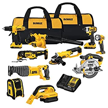 Image of DEWALT 20V MAX Cordless Drill Combo Kit, 10-Tool (DCK1020D2) Home Improvements