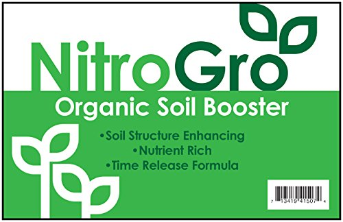 Rich Compost (NitroGro - Organic Soil Fertilizer, Amendment and Booster for Houseplants and Small Gardens - 5 Quart)