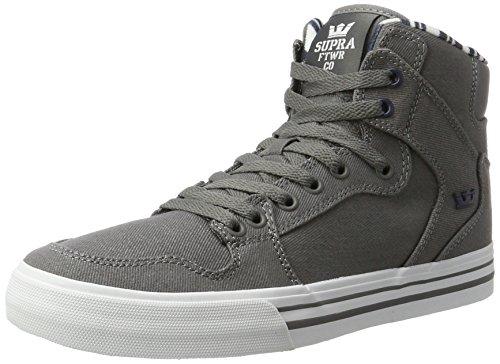 Vaider Homme Grey white Hohe Grau Supra Sneakers 8dwPaPq