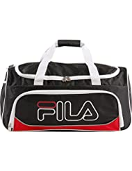 Fila Fieldcrest Medium Sports Duffel Gym Bag, Black/Red, One Size
