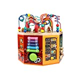 LIUFS-TOY Wooden Round Bead Treasure Chest Beaded Puzzle Early Learning Girl Boy Child Intelligence Toy (Color : B)