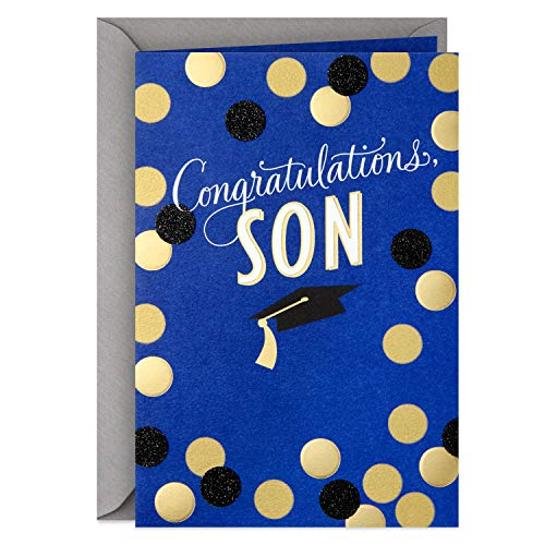 Hallmark Graduation Card for Son (So Many Reasons to Be Proud)