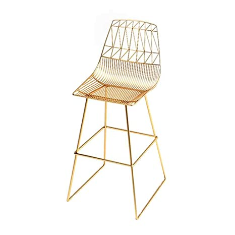 Amazon.com: Taburete de bar de metal dorado, silla de ...