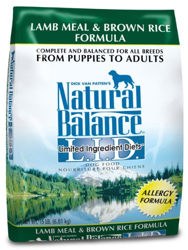 Natural Balance Dry Dog Food, Limited Ingredient Diet Lamb Meal and Brown Rice Recipe, 15 Pound Bag, My Pet Supplies