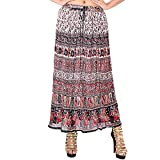 SHREE RAM IMPEX Women's Long Bohemian Style Gypsy Boho Hippie Multicolored Skirt 36 Inches (Multicolored 21)