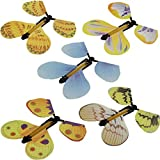 5pcs Magic Flying Wind Up Butterfly Novelty Gag Toy