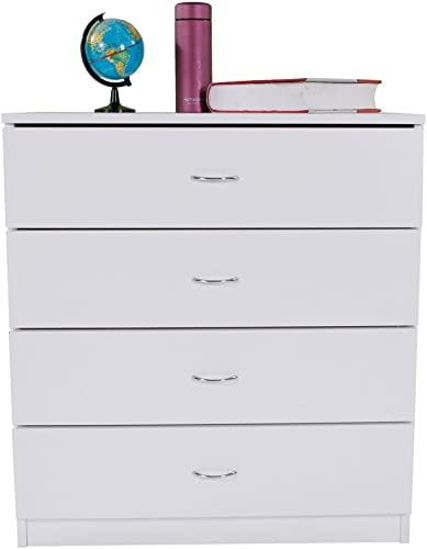 Dresser White Wood Cabinet for Closet Office Clothes Cosmetic Storage Chest Organizer with Drawers Bedroom Night Stand