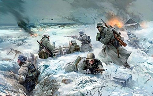 Tomorrow sunny art soldiers the germans the german army war fight battle ww2 Home Decoration Canvas Poster 24x36 inch Silk Poster wall decor