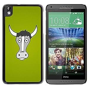 Be Good Phone Accessory // Dura Cáscara cubierta Protectora Caso Carcasa Funda de Protección para HTC DESIRE 816 // Funny Horned Cow Bull