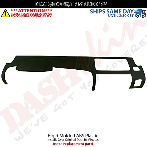 DashSkin Molded Main Dash Cover Compatible with 07-13 Silverado LS/LT & Sierra SL/SLE in Ebony ()