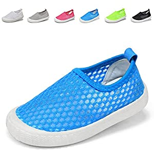 VIFUUR Kids Boys&girls Slip-on Breathable Sneakers For Running Beach Swimming Birthday Gift Blue 30