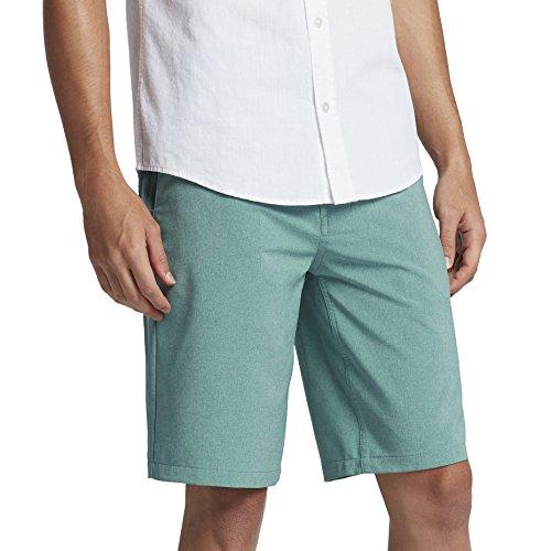 (Hurley New Men's Dri-Fit Heather Short Polyester Spandex Blue)