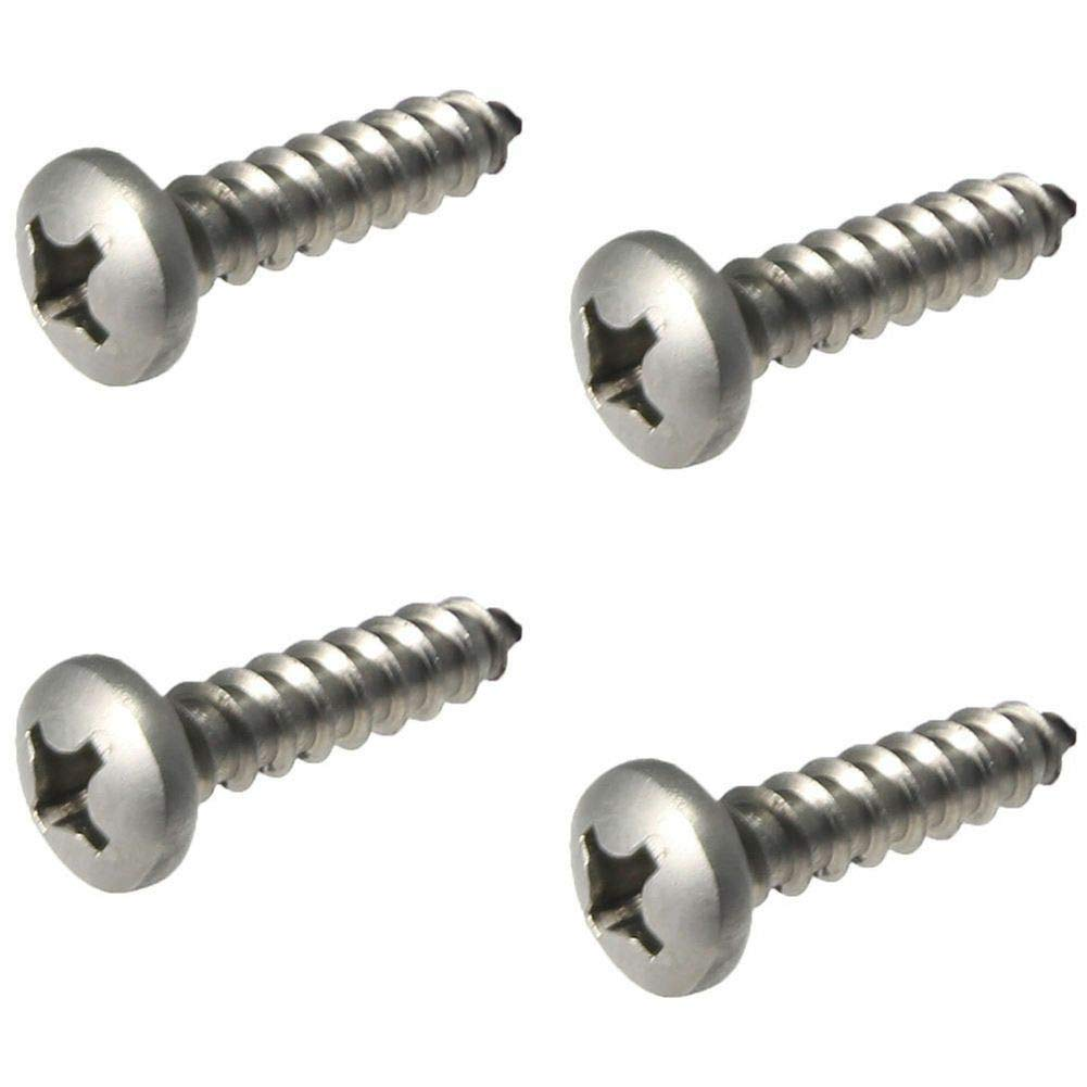 Pan Head Sheet metal Screws 316 Stainless Steel Marine Grade #12X2-1/2'' Qty 100