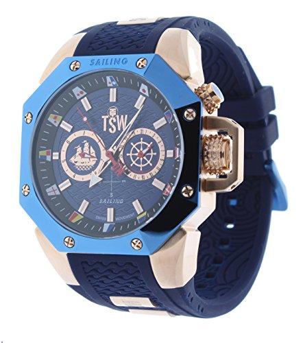 Technosport TS-100-SAIL7 Men's Watch Rose Gold/Dark Blue Sailing Swiss Day/Date Movement