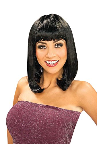 [Forum Novelties Women's Sexy Sue Wig, Black, One Size] (Long Sexy Wigs)