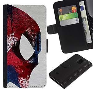 A-type (Fighter Ufo Superhero Colorful) Colorida Impresión Funda Cuero Monedero Caja Bolsa Cubierta Caja Piel Card Slots Para Samsung Galaxy S5 Mini (Not S5), SM-G800